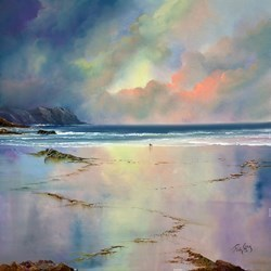 Sunset Blush II by Philip Gray -  sized 32x32 inches. Available from Whitewall Galleries